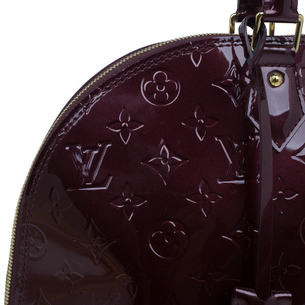 Louis Vuitton Rouge Fauviste Monogram Vernis Alma GM