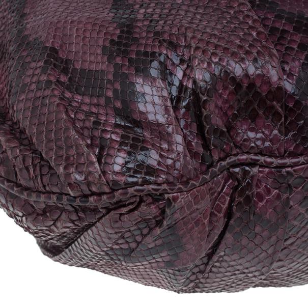 Gucci Purple Python Hysteria Hobo
