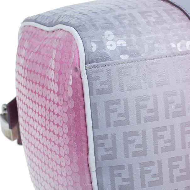 Fendi Pink Sequinned Forever Boston