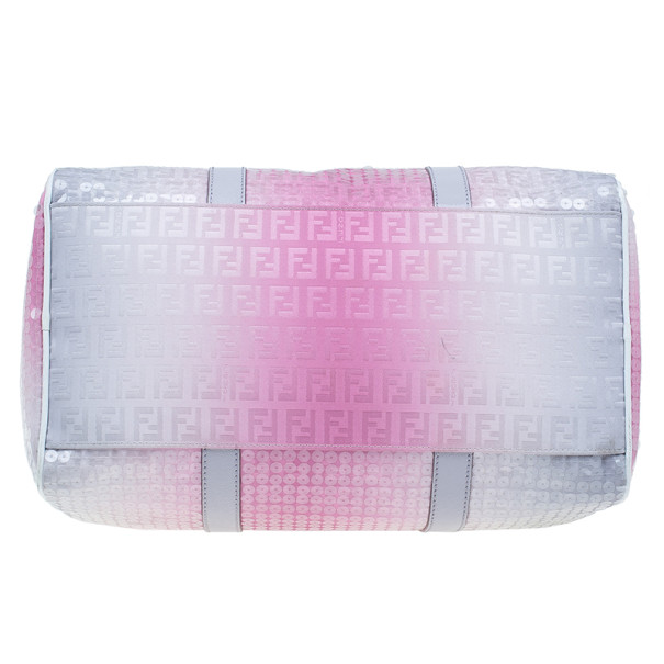 Fendi Pink Sequinned Forever Boston