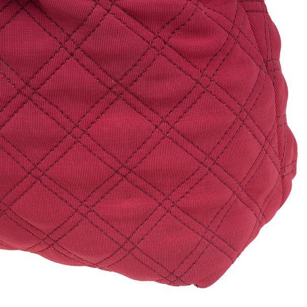 Marc Jacobs Red Quilted Jersey Bruna Bow Satchel