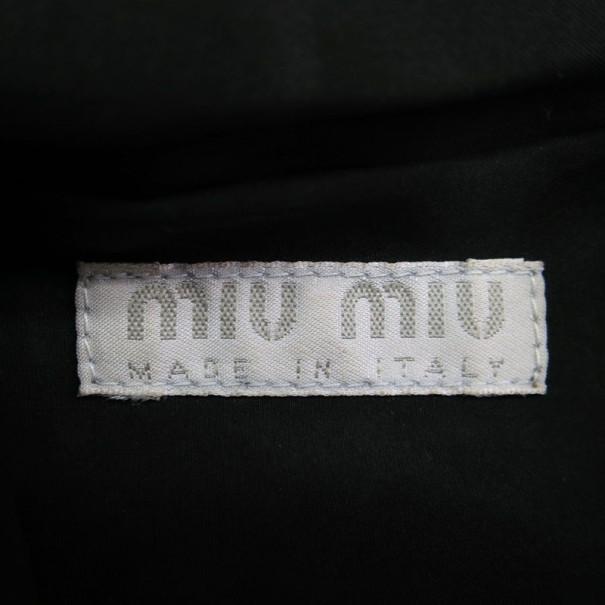 Miu Miu Grey Jersey Clasp Clutch