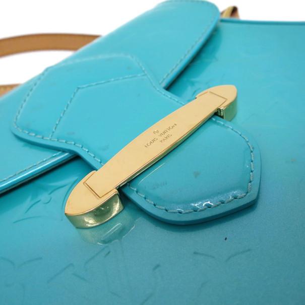 Louis Vuitton Blue Monogram Vernis Bellflower Crossbody PM
