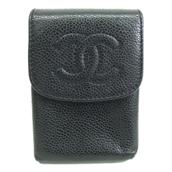Chanel Black Caviar Tabacco Case
