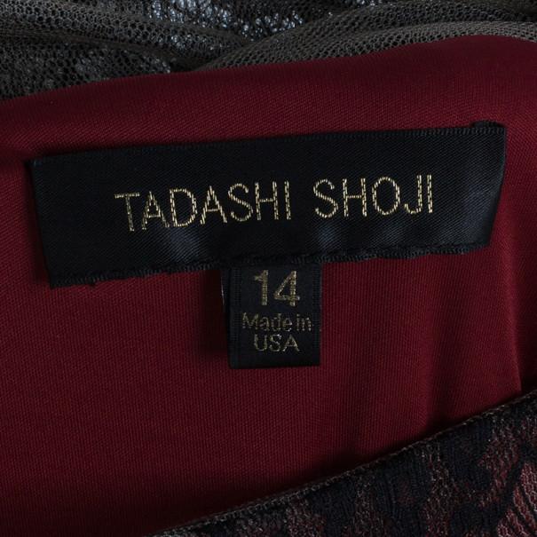 Tadashi Shoji Dantelle Layered Dress XL
