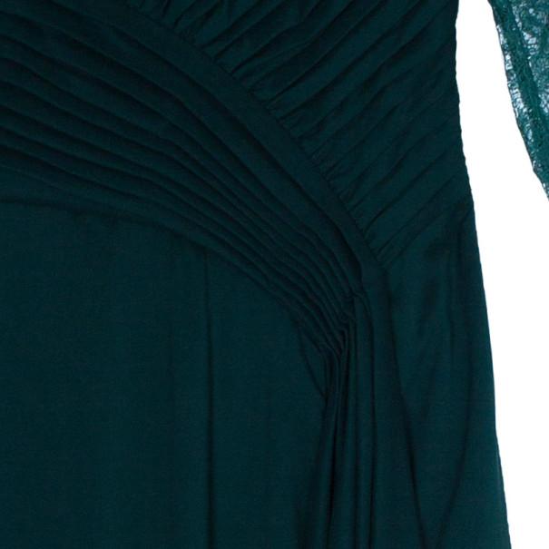 Tadashi Shoji Lace Pleated Gown L
