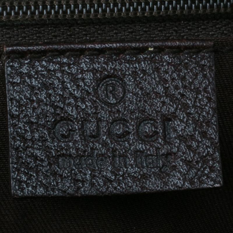 Gucci Beige/Brown Monogram Canvas Abbey D-Ring Shoulder Bag