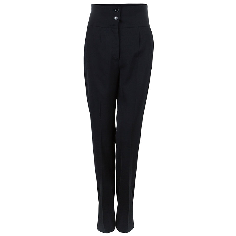 Dolce and Gabbana Black High Waist Trousers M