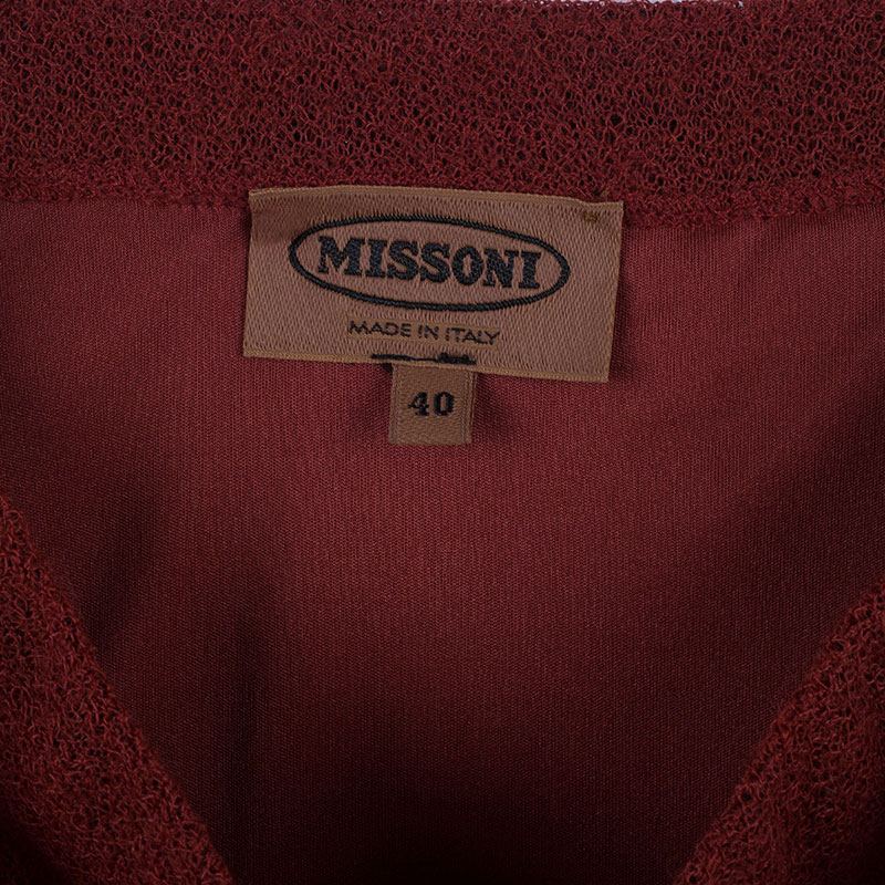 Missoni Red Mohair Skirt S
