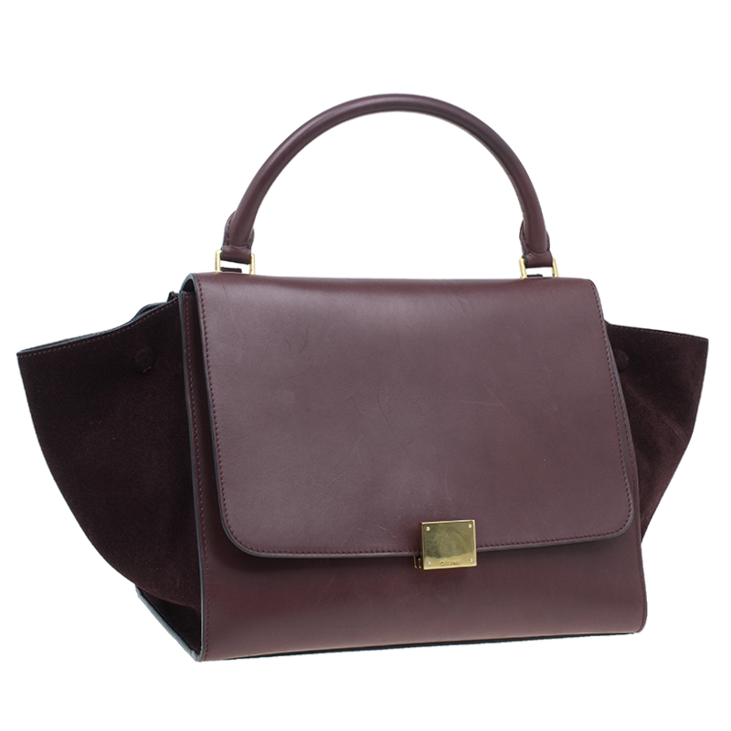 Celine Brown Leather Mini Trapeze Bag