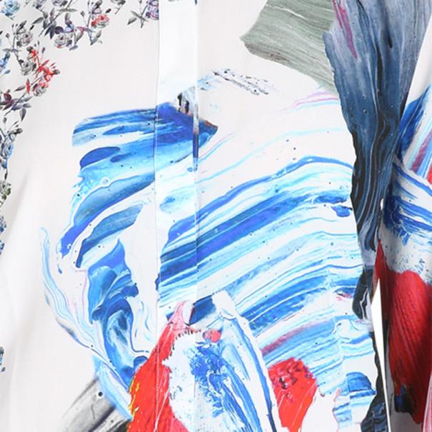 Prabal Gurung Printed Draped-Back Blouse M