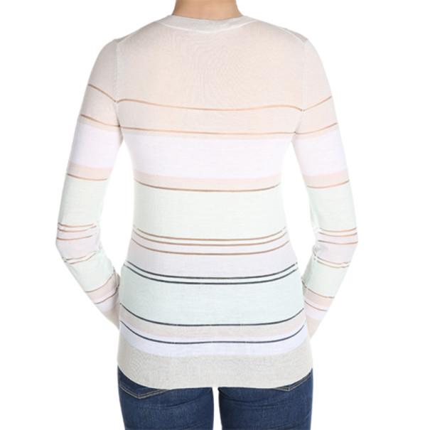 Jason Wu Striped Merino Wool Sweater S