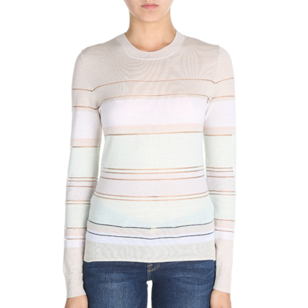 Jason Wu Striped Merino Wool Sweater S