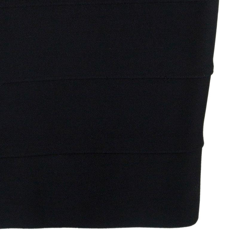 Herve Leger Black Sequin Bandage Dress XS