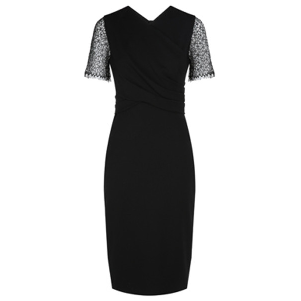 Jason Wu Black Lace-Detailed Dress M