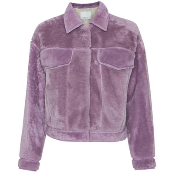 3.1 Phillip Lim Lilac Shearling Jacket M