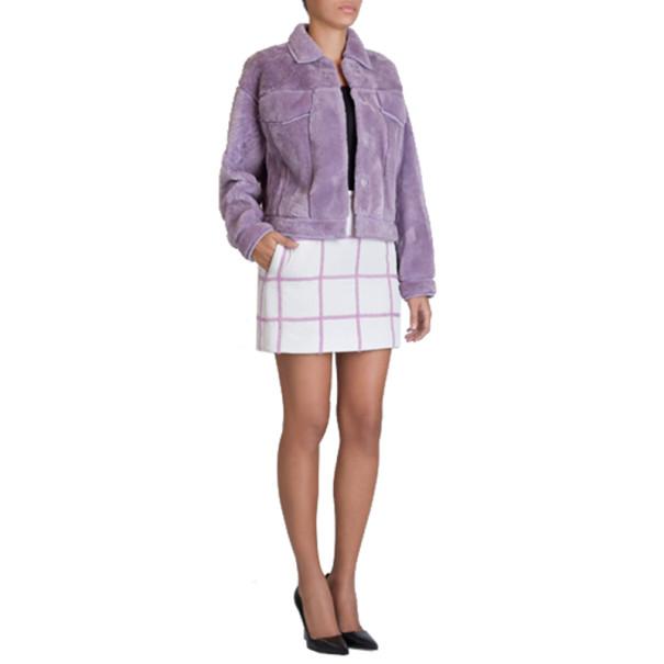 3.1 Phillip Lim Lilac Shearling Jacket M