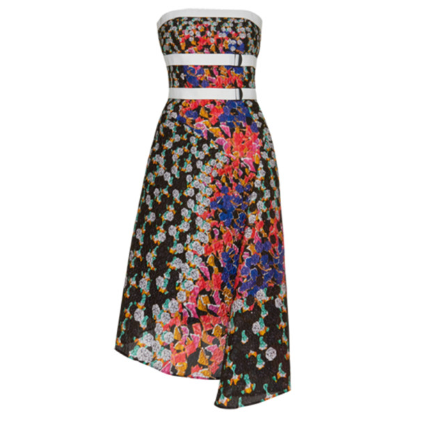 Peter Pilotto Beck Strapless Printed Dress M