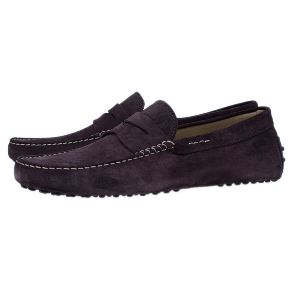 Tod's Brown Suede Penny Loafers Size 43.5