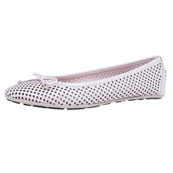 Jimmy Choo Pink Patent Walsh Ballet Flats Size 36.5