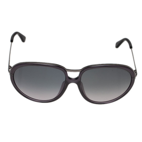 Tom Ford Black Faye Oval Sunglasses