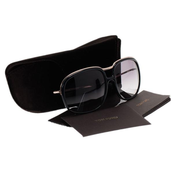 Tom Ford Black Cori Square Sunglasses