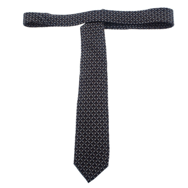 Dolce and Gabbana Grey Printed Tie