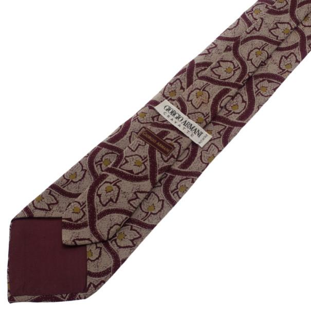 Giorgio Armani Leaf Print Tie
