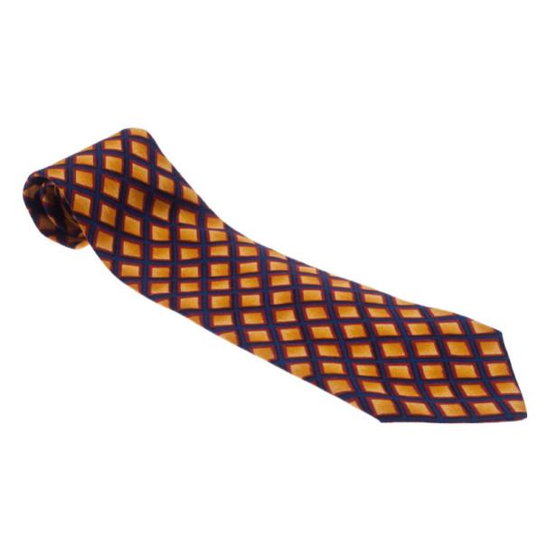 Ermenegildo Zegna Diamond Print Silk Tie