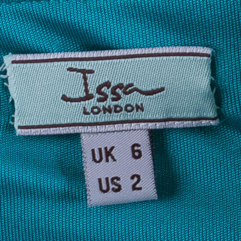 Issa London Teal Halter Back Maxi Dress S
