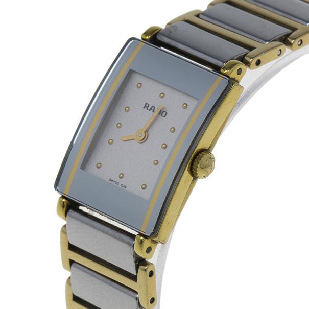 Rado White Stainless Steel Integral Women's Wristwatch 20MM