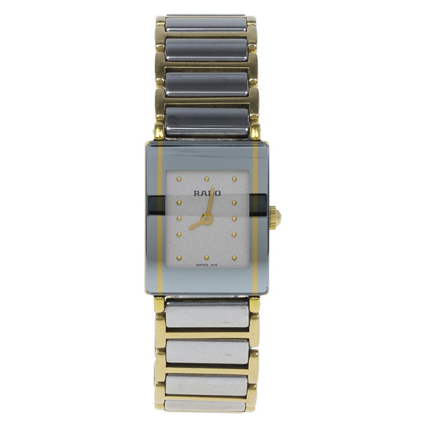Rado White Stainless Steel Integral Women's Wristwatch 20MM
