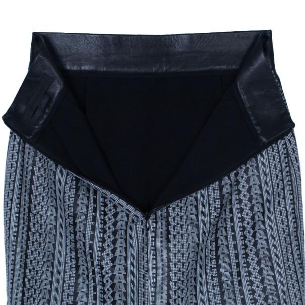 Alexander Wang Lambskin Leather Logo Skirt XS