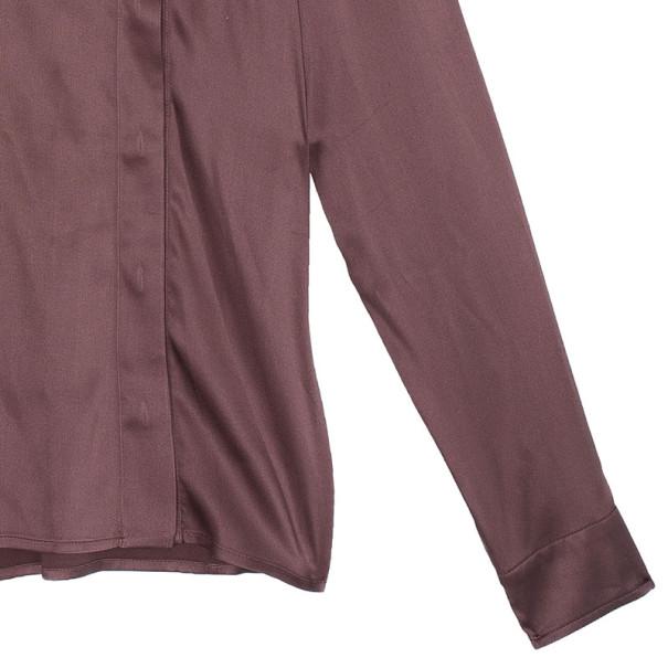 Gucci Brown Silk Shirt M