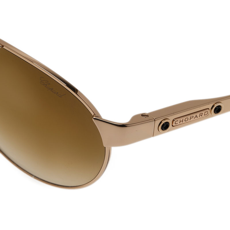 Chopard Brown and Gold SCH974 Aviators