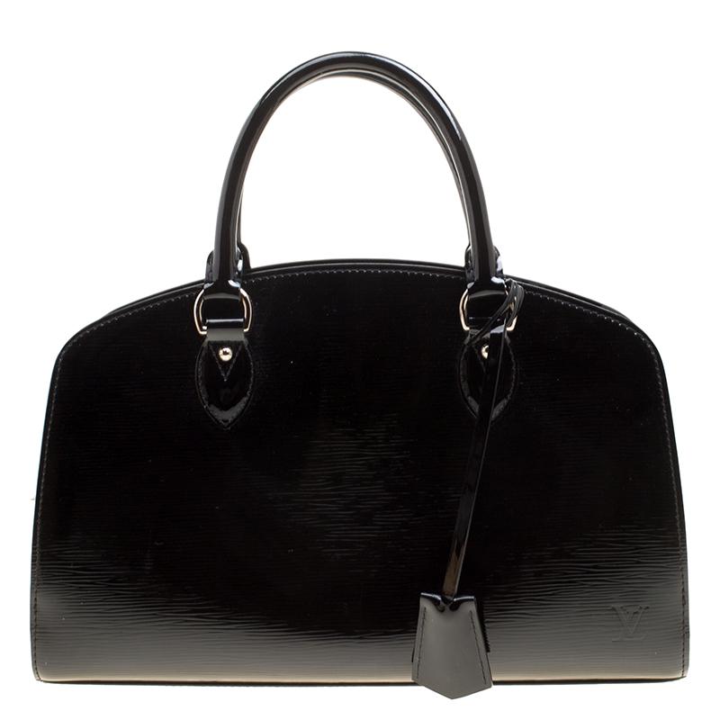 Купить со скидкой Louis Vuitton Black Electric Epi Leather Pont Neuf PM Bag