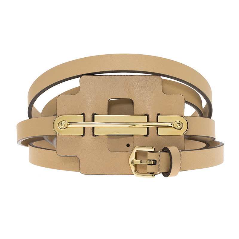 tod s beige leather wrap around belt 100cm buy sell lc