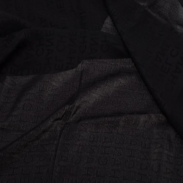 Chanel Black Logo Sqaure Scarf