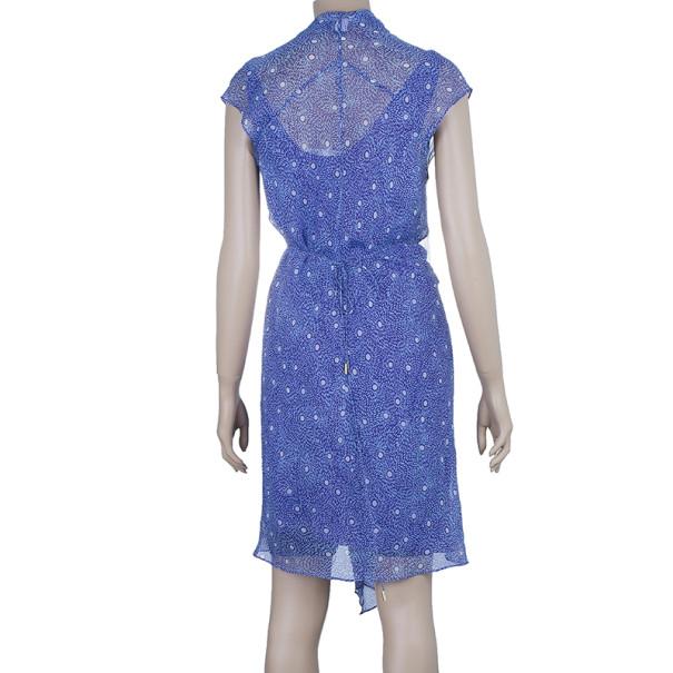 Diane Von Furstenberg Damiana Printed Silk Chiffon Dress M