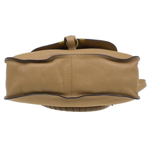Chloe Brown Leather Medium Marcie Shoulder Bag