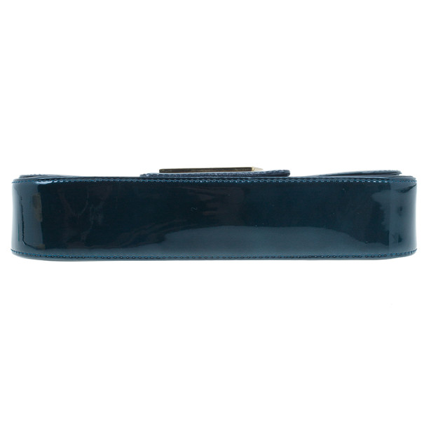 Louis Vuitton Bleu Nuit Patent Leather Sobe Clutch