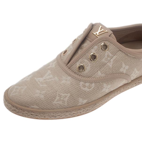 Louis Vuitton Monogram Canvas Espadrilles Sneakers Size 36