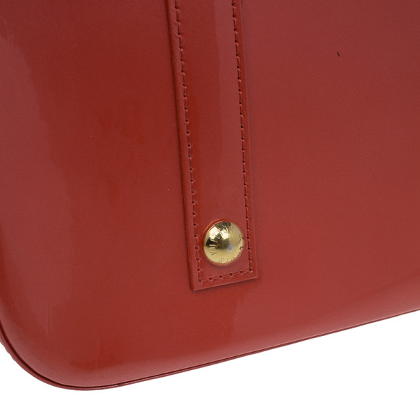 Louis Vuitton Chili Red Monogram Vernis Alma GM