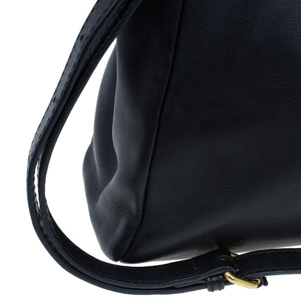 Fendi Black Calfskin Leather Small Peekaboo Tote