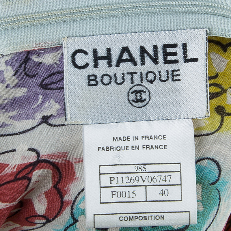 Chanel Multicolor Floral Printed Dress M