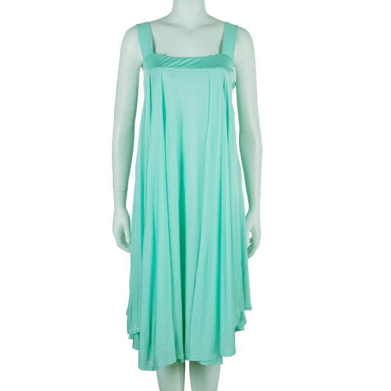 Celine Mint Sleeveless Jersey Dress L