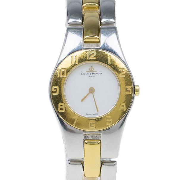 Baume & Mercier Mother of Pearl Stainless Steel Linea Women's Wristwatch 24 MM