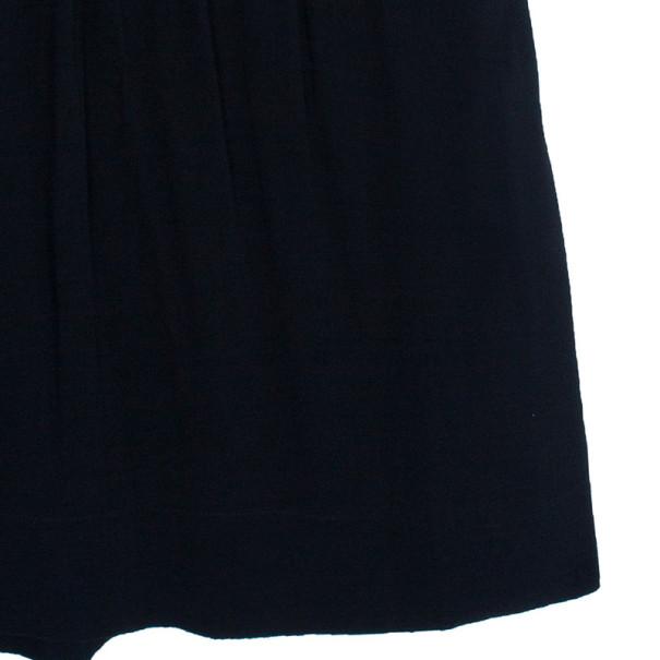 Burberry Black Zip Front Utility Dress M