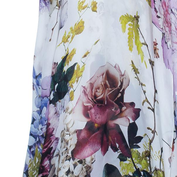 Roberto Cavalli Silk Flower Print Kaftan M