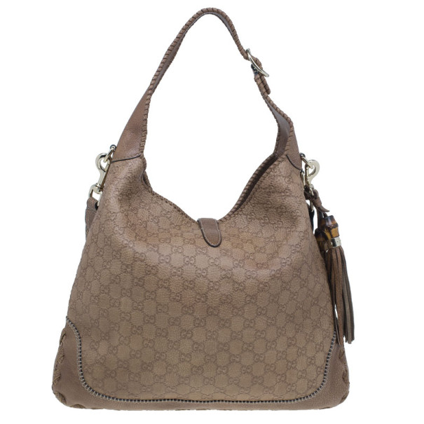 Gucci Tan Guccissima Leather Large Jackie Shoulder Bag